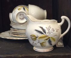 Yellow Colclough Tea set