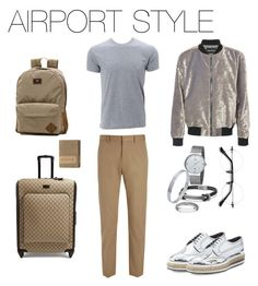 """AirPort style"" by yago-valleijo on Polyvore featuring Simplex Apparel, Joseph, Prada, David Yurman, John Hardy, Vans, Gucci, Carhartt, men's fashion e menswear"