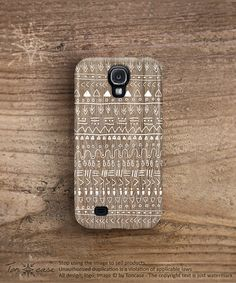 Samsung galaxy s4 case wood print galaxy 4 case aztec by TonCase, $23.99
