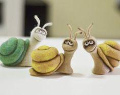 Felt doll Handmade toys Needle felting Miniature от VladaHom