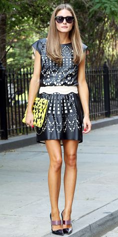 click to shop Olivia Palermo's outfit! (her belt is only $35!)