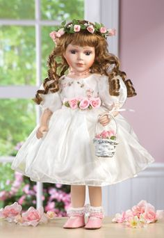 #30304 Collectible Wedding Flower Girl Doll by sensationaltreasures