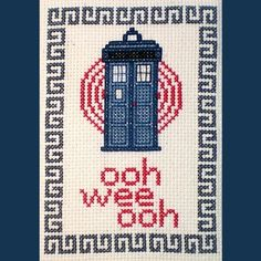 Doctor Who Inspired Cross-stitch Pattern
