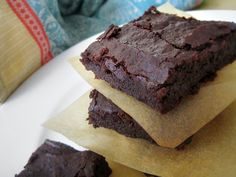 Plant-Based & Gluten-Free Black Bean Brownies - More chocolately with melted chocolate