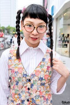 Cute Twin Braids & Vest in Harajuku  #vanitytours
