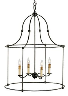 currey & company fitzjames lantern - chandeliers - lighting - Tuvalu Coastal Home Furnishings