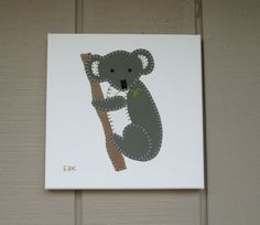 Koala #1 Fabric Wall Art by CottonwoodCove on Etsy