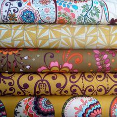 Karavan Bundle in Curry by Valori Wells Half by sewfreshfabrics, $24.50