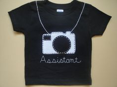 I need this shirt for Jackson. :-)    Assistant Photographer T Shirt by EllieShea on Etsy, $21.00