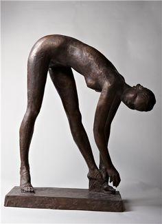 Скульптор Александр Миронов -Танцовщица, Бронза, 2006 г. Stockings, Sculpture, Statue, Contemporary Art, Socks, Sculptures, Sculpting, Panty Hose, Sock