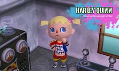 Harley Quinn Suicide Squad - Joker jacket & Daddy's Little Monster shirt QR code for Animal Crossing: New Leaf (ACNL) *Follow the link for Joker's clothing QR also*