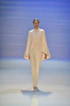 Georges Hobeika bridal pantsuit with cape