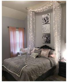 Bedroom Ideas For Teen Girls, Cute Girls Bedrooms, Teenage Girl Bedrooms, Trendy Bedroom, Modern Bedroom, Bedroom Girls, Minimalist Bedroom, Bedroom Romantic, Bedroom Vintage