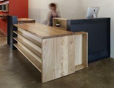 Custom Reception Desk / Cash Wrap by Anand Gowda Design | CustomMade.com