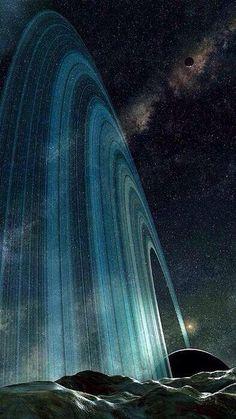 Anillos de saturno desde Mimas