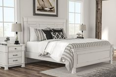 Finish the final touches to your room from our selection of Bedroom Sets. King, Queen, and Full Bedroom Sets from Ashley Furniture HomeStore for any budget! Bedroom Retreat, Bedroom Decor, Wood Bedroom, Bedroom Inspo, Dream Bedroom, Queen Beds, My New Room, Luxury Bedding, Modern Bedding