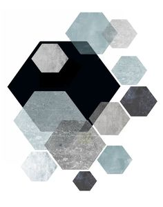 Hexagon print, Geometric Wall Art, Printable Art, Hexagonal Print, Mid Century Modern, Geometric Art, Wall Decor, Instant download  Print out on your own computer instantly,or take it to your local print/photo shop, or have it printed online.  Your file will contain a high resolution .jpg which will produce an excellent quality print up to 16 x 20.  Your print shop will be able to adjust the size down, if you want a smaller print, or if you are printing at home and are unable to resize the…