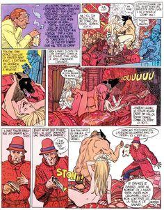 "Moebius- Les Nuits de l'anneau Rouge (The Nights of the Red Ring)  From L'Incal Moebius/Jodorowsky - Les HumanoÏdes Associés, Paris In""Métal Hurlant"" # 58 Dec. 1980"