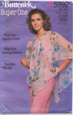 Vintage 1970s Butterick Sewing Pattern 5399 Womens by CloesCloset, $10.00