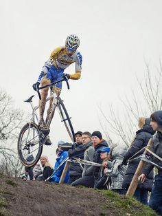 A Wicked jump on a CX bike