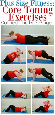 Plus Size Fitness: Ab and Core Toning Exercises Modified exercises for beginner or postpartum at home exercises workouts for women