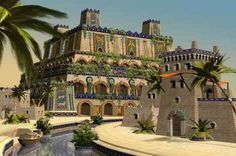 The 7 Wonders of the Ancient World : Hanging Gardens of Babylon Architecture Drawings, Gothic Architecture, Ancient Architecture, Classical Architecture, Sustainable Architecture, Landscape Architecture, Ancient Mesopotamia, Ancient Civilizations, String Garden