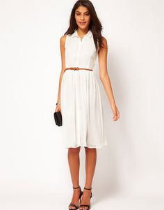 ASOS | ASOS Midi Dress With Belt at ASOS