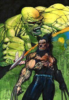 wolverine vs hulk 2 – The Art of Simon Bisley Comic Book Characters, Marvel Characters, Comic Character, Comic Books Art, Comic Art, Comic Pics, Book Art, Simon Bisley, Wolverine Art