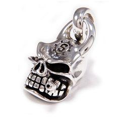 Skull/Smoking Cigar/925 Sterling Silver Pendant/Silver Skull Necklace/Biker Jewelry/Silver Skull Pendant/Gothic/Charm/Men's/Women's cs-051 Sterling Silver Pendants, Silver Jewelry, Silver Skull Ring, Skull Pendant, Skull Necklace, Wallet Chain, Chains For Men, Leather Keychain, Rings For Men