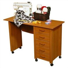 Venture Horizon took their best selling mobile desk and added some style. Whether you want a sewing center, a handy organizer from which to pay bills or an extra desk for the home office, the Mobile Work Center is right for the job.