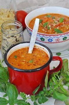 Zupa pomidorowa z mięsem mielonym Cookbook Recipes, Soup Recipes, Diet Recipes, Cooking Recipes, Healthy Recipes, Indian Food Recipes, Ethnic Recipes, Vegan Soups, Bariatric Recipes