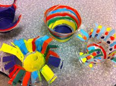 Chihuly project using plastic cups and acryllic paint