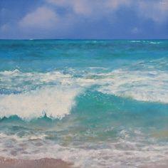Turquoise, painting by artist Oriana Kacicek