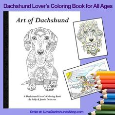 Dachshund Coloring Book for All Ages Volume 1