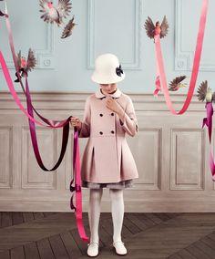 Pink girly coat dress BABY DIOR AW2013 #cute