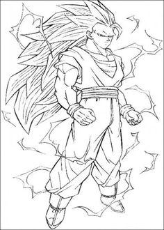 Dragonball Z Coloring Pages 02 400x560 Goku Super SayajinSuper