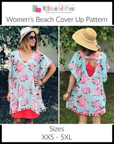 c6af57dcf8 Women s Beach Swimsuit Cover Up Sewing Pattern Release and Sale