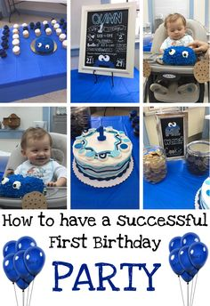 How to have a successful First Birthday Party! |Cookie Monster Themed Birthday Party.| Baby Boy One Year Party!