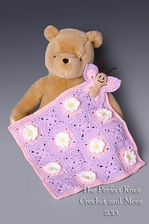 Butterfly Lovey Security Blanket pattern by The Perfect Knot… $5