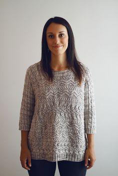 Joji Rhapsody in Cables Sweater Knitting Pattern