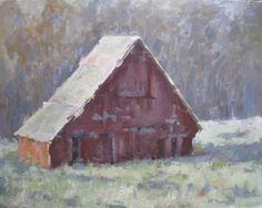 Lieper's Fork Barn, Roger Dale brown Workshop, painting by artist David Boyd, Jr