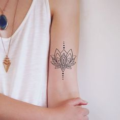This pretty lotus tattoo is new in the shop! #tattoo #etsy #etsyfinds