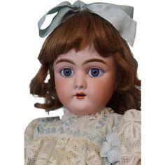 21 inch Antique German Bisque doll Heinrich Handwerck 109 Stamped ball from turnofthecenturyantiques on Ruby Lane