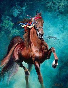 Colorful American Saddlebred