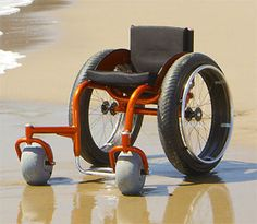 The BT-Beach wheelchair is specially designed for sand and surf.