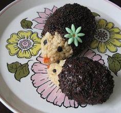 hedgehog rice crispy treats- would be cute for ground hog day