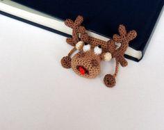 Signet tricoté cerf mignon cadeau pour les enfants au Crochet cerf cadeau pour marque-page fait à la main les étudiants