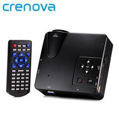 Crenova H80 Portable Mini LED LCD HomeTheater Game Projector Support PC Laptop Full HD 1080P Video With AV/VGA/USB/SD/HDMI