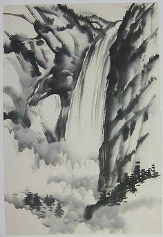 Chiura Obata - Yosemite Falls, 1930-40