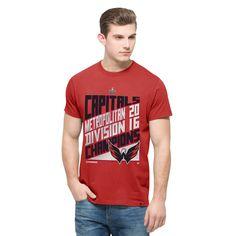detailed look 74a5e acd04 Washington Capitals  47 2016 Metropolitan Division Champions Flanker Locker  Room T-Shirt Division,
